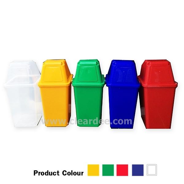 ถังขยะพลาสติก แบบบานสวิง 1 ช่อง – ขนาด 40 ลิตร สีเขียว