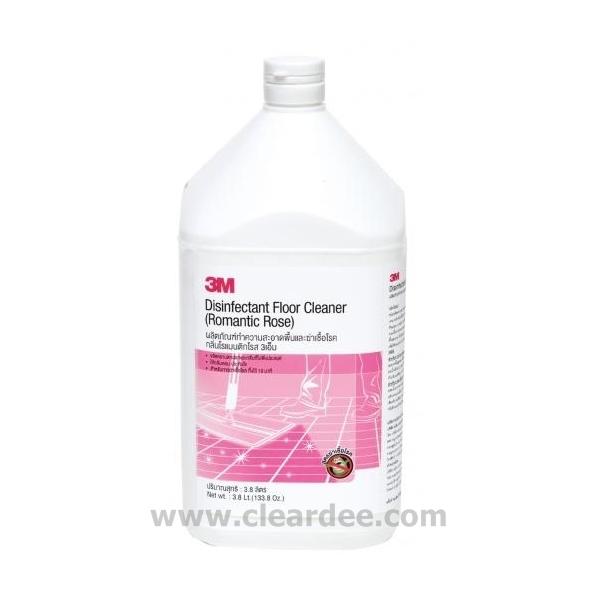 น้ำยาทำความสะอาดพื้นและฆ่าเชื้อ กลิ่นโรแมนติกโรส 3M (4 Gal.)
