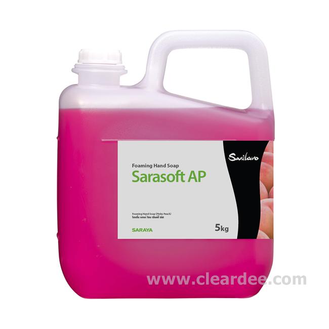 สบู่โฟมล้างมือขจัดแบคทีเรีย SARAYA Sarasoft กลิ่น พิงกี้พีช