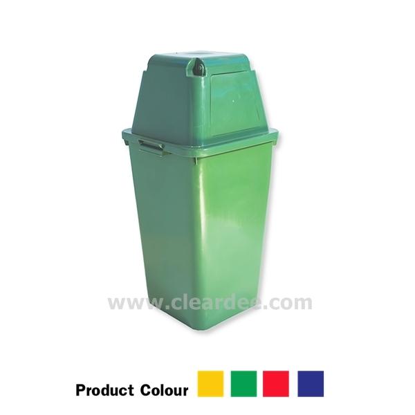 ถังขยะพลาสติก แบบบานสวิง 1 ช่อง ขนาด 120 ลิตร สีเขียว
