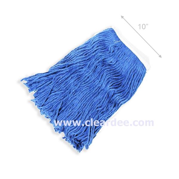 ผ้าม็อบถูพื้น ขนาด 10 นิ้ว - สีน้ำเงิน (เฉพาะผ้า)
