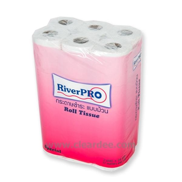 """กระดาษชำระม้วนเล็ก RiverPro """"Special"""" 96 ม้วน ( 17m. )"""