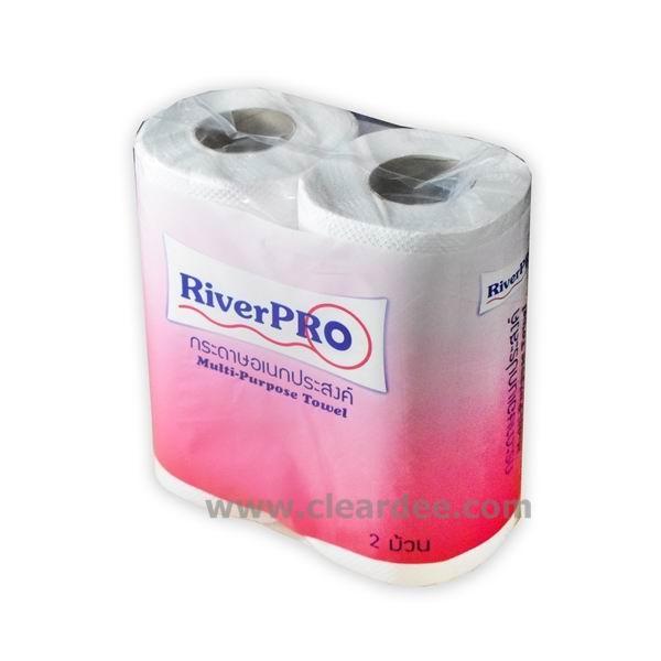 """กระดาษเช็ดอเนกประสงค์ RiverPro """" Roll Towel"""""""